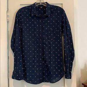 Uniqlo polka dot blouse